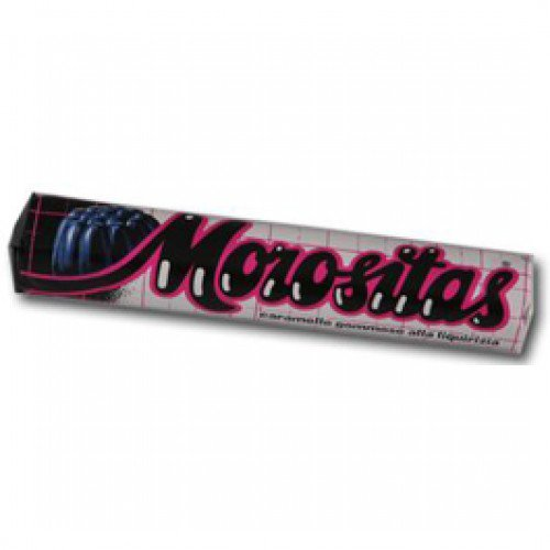 Morositas Black Licorice Gummies - Counter Display with 24 Rolls