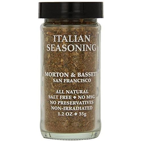 Morton & Bassett Italian Seasoning, 1.2-Ounce Jars Pack of 3