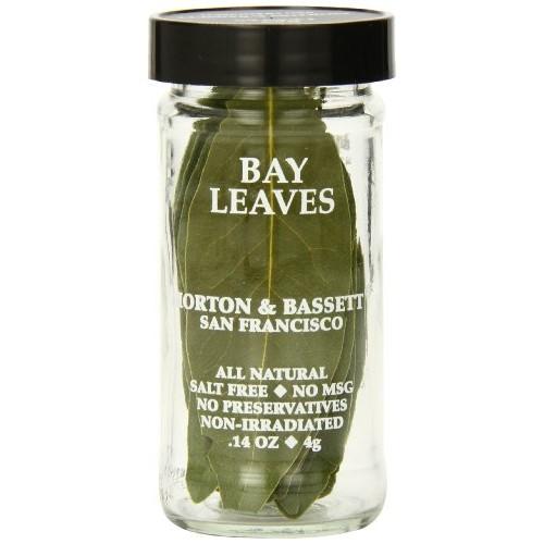 Morton & Bassett Bay Leaves, .14-Ounce Jars Pack of 3