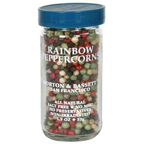 Morton & Bassett Rainbow Peppercorns, 1.9-Ounce Jars Pack of 3