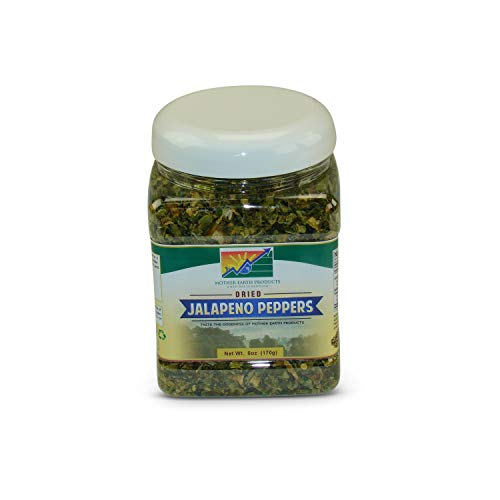 Mother Earth Dried Jalapeno Peppers (One Full Quart Plastic Jar)