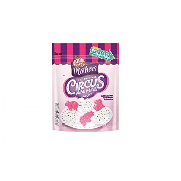 Mothers Original Iced Circus Animal Cookies 11-ounce Bags Pack...