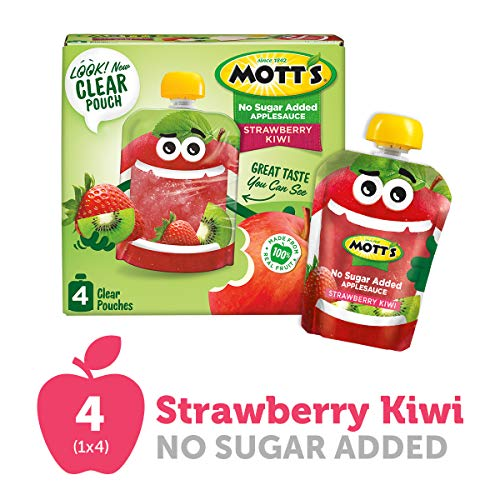 Motts Unsweetened Strawberry Kiwi Applesauce, 3.2 Ounce