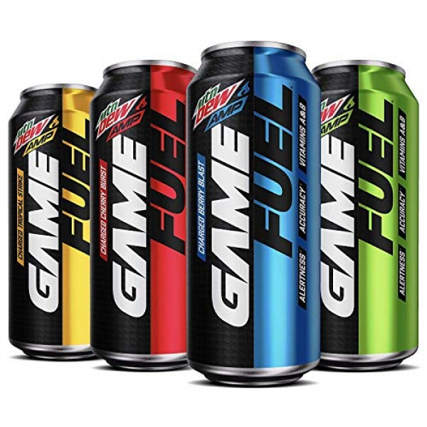Mountain Dew Game Fuel, 4 Flavor Variety Pack, 16 fl oz. cans 1...