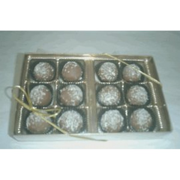 Rum Filled Milk Chocolate Flavoured Truffles Gift Box 12 Pcs