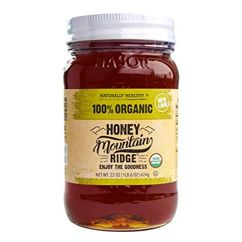 USDA Organic Mountain Ridge Honey - 22 oz of 100% Pure Raw Honey...