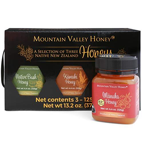 Honey Variety Trio Gift Set, 100% Natural Raw New Zealand Honey,...