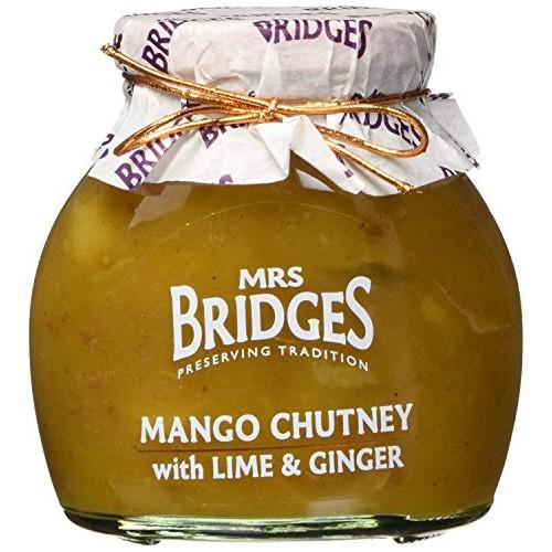 Mrs Bridges Mango Chutney with Lime and Ginger, 10.2 Ounce