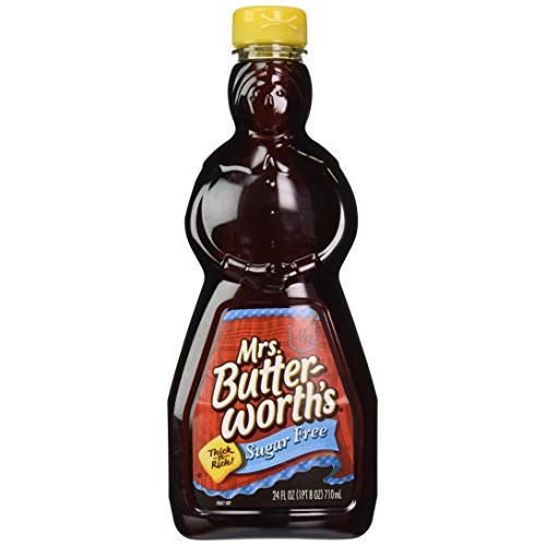 Mrs. Butterworths Sugar Free Syrup, 24-Ounce Pack of 4