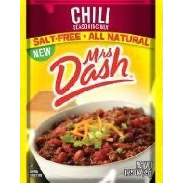 Mrs Dash Salt Free Chili Mix 1.25 oz Packets 4 Pack