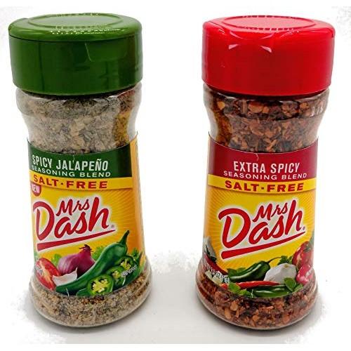 Mrs. Dash Salt Free Seasoning Extra Spicy and Jalapeno Flavor Bu...