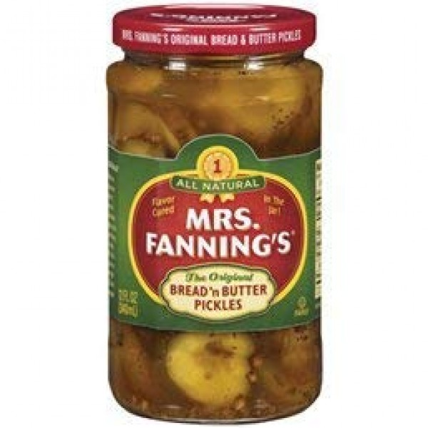 Mrs. Fannings Bread and Butter Pickles 12 oz Pack of 4