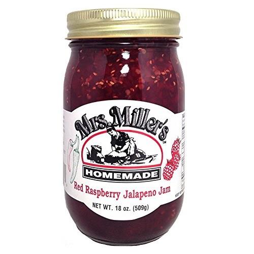 HUGE 18 Oz. Mrs. Millers AMISH MADE Red Raspberry Jalapeño Jam