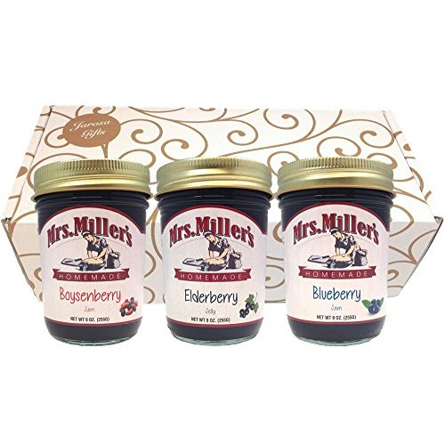 Favorite Berries Gift Assortment Box - 3 Jar Sampler, Variety Pa...