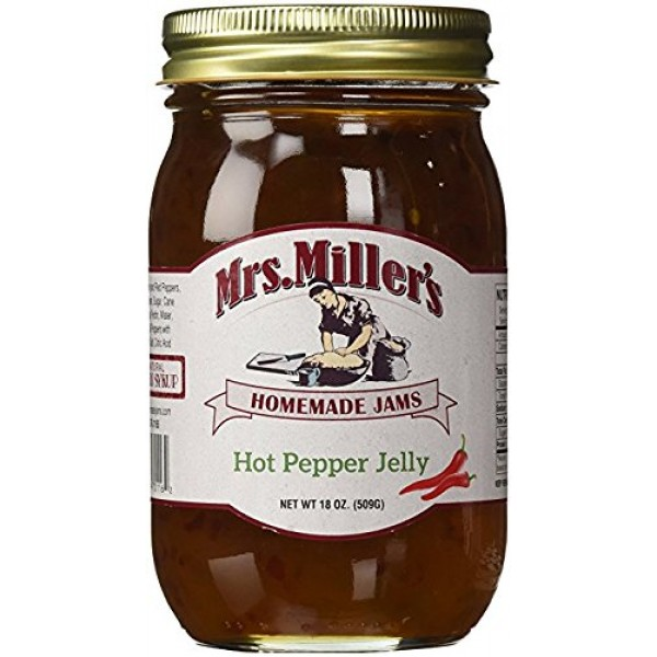 HUGE 18 oz Hot Pepper Jelly Sweet & Spicy, Amish and Homemade, G...