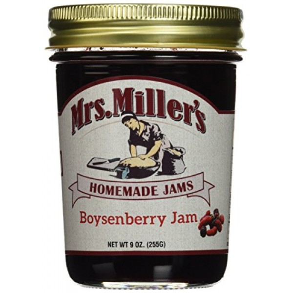 Mrs. Millers Amish Home Made Boysenberry Jam, 9 Ounce Pack of 2