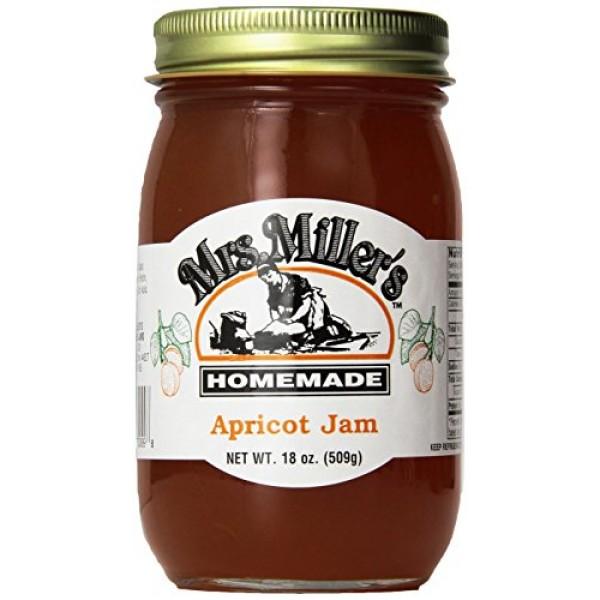 Mrs. Millers Amish Homemade Apricot Jam 18 oz/509g - 2 Jars