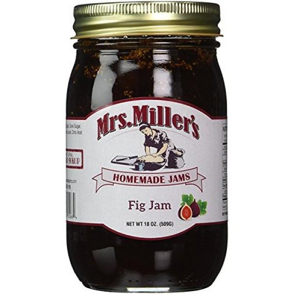 Mrs. Millers Amish Homemade Fig Jam 18 oz/509g