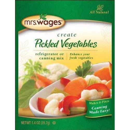 Mrs. Wages Refrigerator Pickled Vegetables Mix 1.44 Oz.