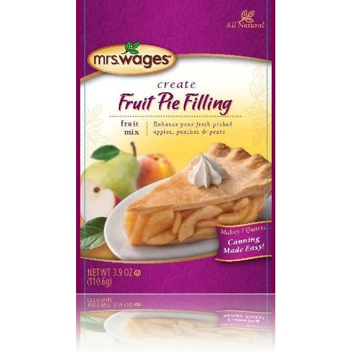 Mrs. Wages Fruit Pie Filling Mix - 6 SIX - 3.9 oz packets