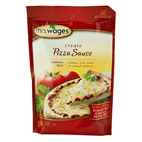 Mrs. Wages Pizza Sauce Tomato Seasoning Mix, 5 Oz. Pouch Pack o...