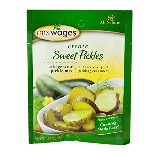 Mrs. Wages Refrigerator Sweet Pickle Seasoning Mix, 1.94 Oz. Pou...