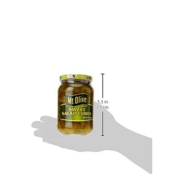 Mt. Olive Pickles Sweet Salad Cubes, 16 oz
