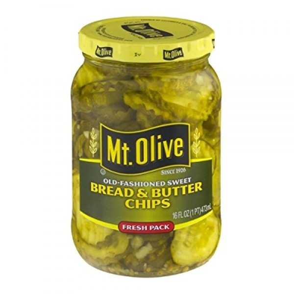 MT. OLIVE Bread & Butter Chips Old Fashioned Sweet Fresh Pack Pi...