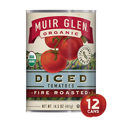 Muir Glen Canned Tomatoes, Organic Diced Tomates, Fire Roasted, ...