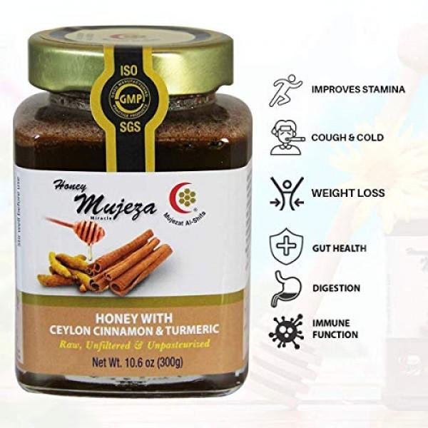 Mujeza Raw Wildflower Honey with Ceylon Cinnamon & Turmeric - Na...
