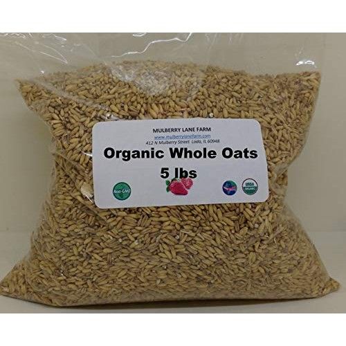 Whole Oats 5 lbs Five Pounds Hulled, Groats, USDA Certified Or...