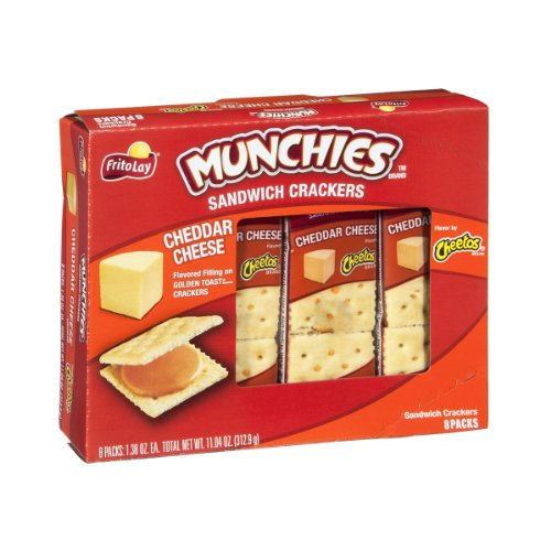 Munchies Sandwich Crackers Cheddar Cheese on Golden Toast Cracke...