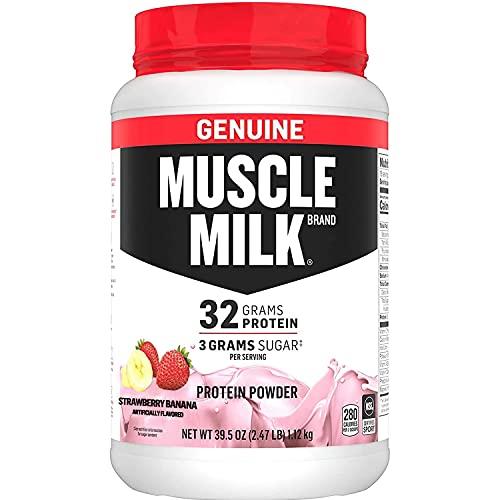 Muscle Milk Genuine Protein Powder, Strawberry Banana, 32g Prote...