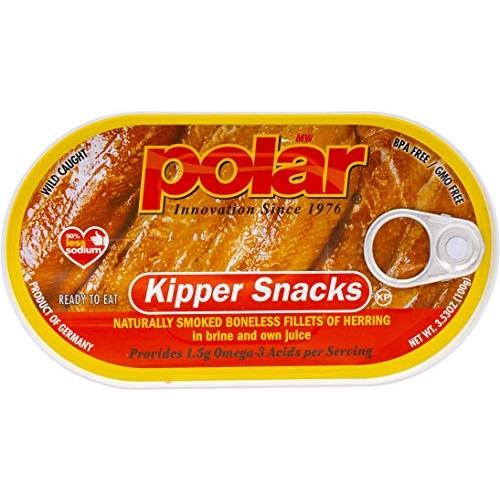 MW Polar Herring, Kipper Snacks, 3.53-Ounce Pack of 18