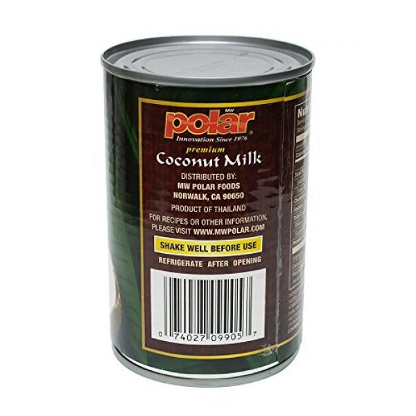 MW Polar Coconut Milk, Premium, 13.5-Ounce Pack of 12