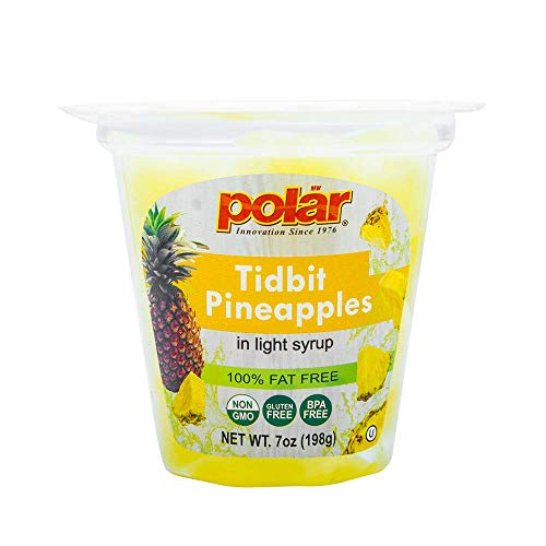 MW Polar Pineapple Tidbits Fruit Cup in Light Syrup, 7 oz Pack...