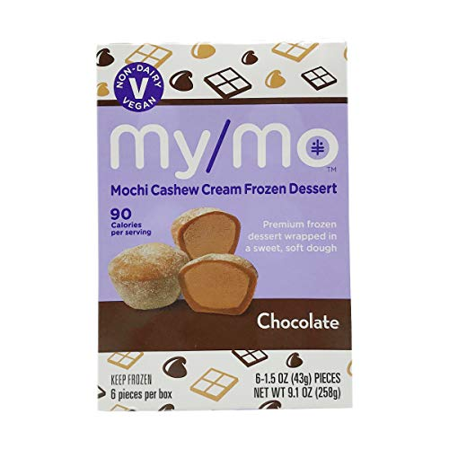 MY MO Chocolate Cashew Cream Mochi 6ct, 9.1 OZ