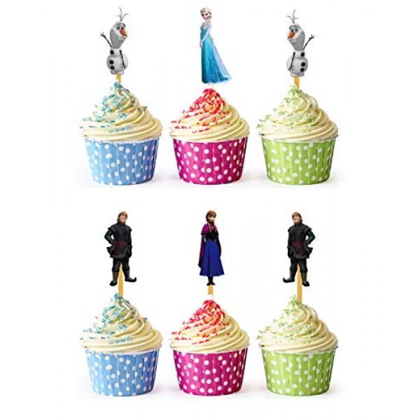 24x Cupcake Topper Picks Frozen