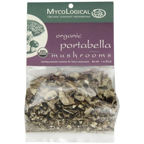 Mycological Dried Organic Portabella Mushrooms, 1 Ounce Package