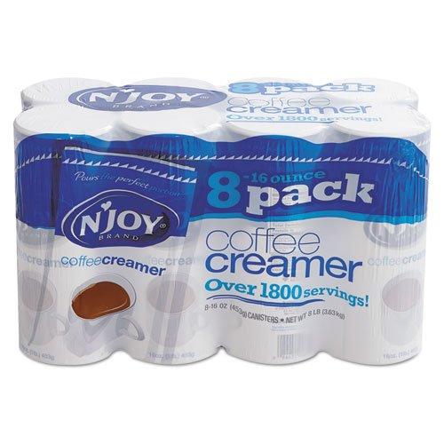 N`Joy 827783 Non-Dairy Coffee Creamer, 16 oz Canister, 8 per Carton