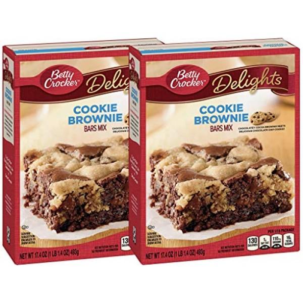Betty Crocker Baking Delights Cookie Brownie Bars Mix 17.4 Oz P...