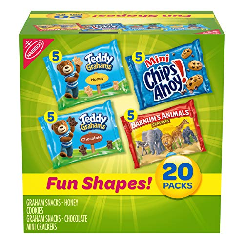 Nabisco Fun Shapes Cookie & Cracker Mix, Variety Pack with Teddy...