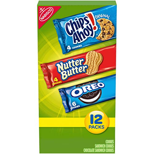 Nabisco Snack Pack Variety Cookies Mix with Oreo, Chips Ahoy! & ...