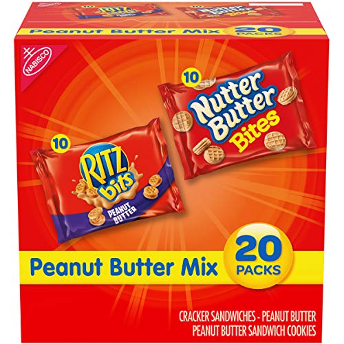 Nabisco Peanut Butter Mix Variety Pack, RITZ Bits Peanut Butter ...