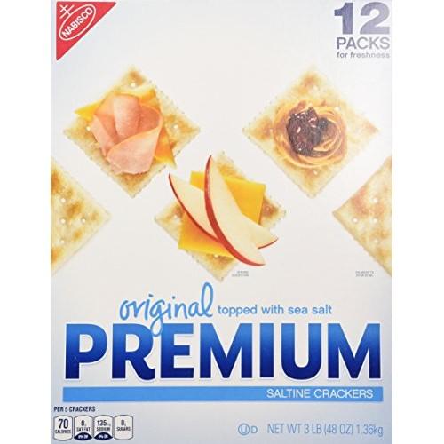 Original Premium Saltine Crackers Topped with Sea Salt