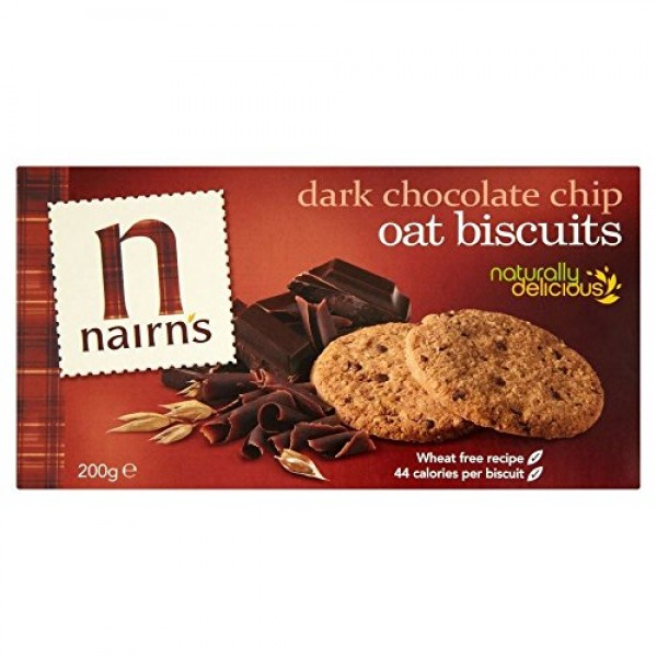 Nairns Dark Choc Chip Oat Biscuits 200g - Pack of 2