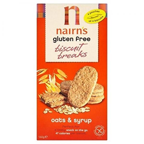 Nairns Nairns Biscuit Breaks - Oat & Syrup 160g Pack of 4