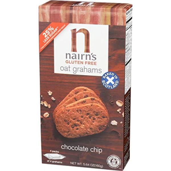 Nairns Gluten Free Oat Grahams, Chocolate Chip, 5.64 Ounce