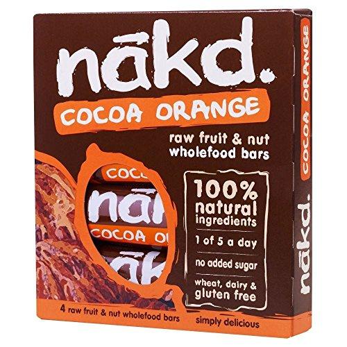 Nakd Cocoa Orange Bars 4x35g