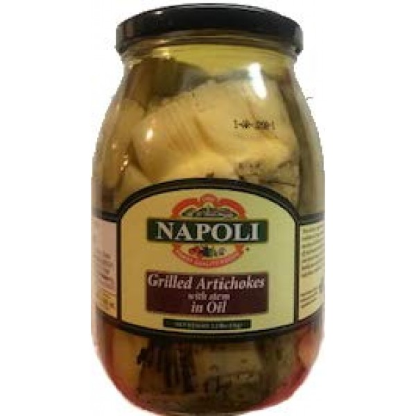 Napoli Grilled Artichokes with Stem in Oil